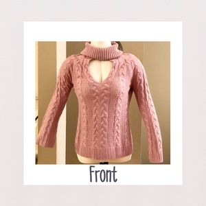 NY&Co | Choker Turtleneck Sweater | Dusty Rose | M